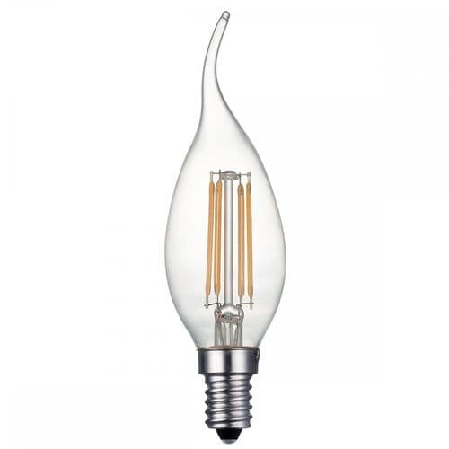 BUL-E14-LED-14 Dar Pack Of 5 E14 4w LED Dimmable Candle Lamp